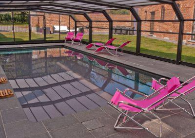 Abri telescopique pour piscine